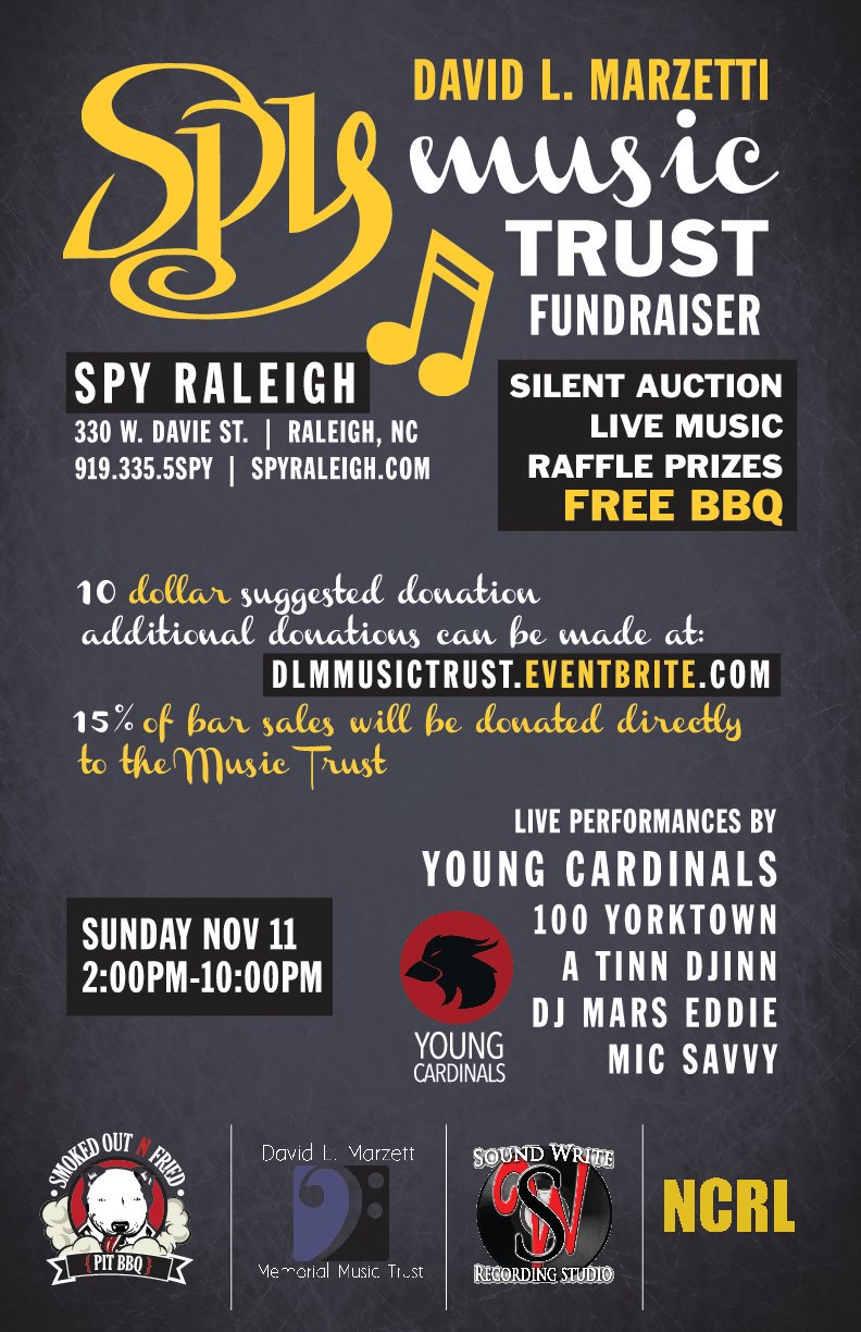 DLM Memorial Music Trust Fund Fundraiser – 11/11/12 at Spy Raleigh